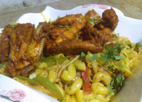Chicken Tikka Macaroni Pakistani Food Recipe
