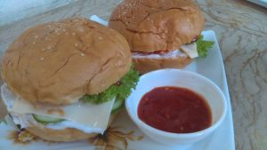 Homemade Mutton Cheese Burger Recipe