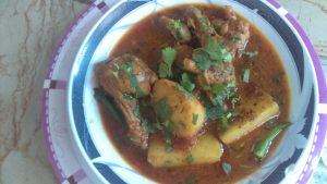 Chicken Aloo Curry Pakistani Food Recipe