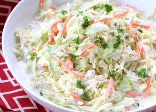 Homemade Coleslaw Salad Pakistani Food Recipe (With Video)