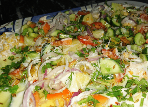 Besan Dahi Baray With Veggies Pakistani Food Recipe (With Video)