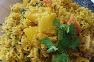 Aloo Matar Pulao Pakistani Food Recipe