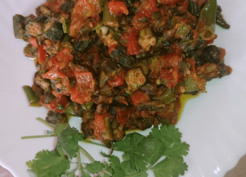Tamatar Bhindi Pakistani Food Recipe