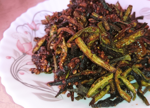 Crispy Masala Bhindi Pakistani Food Recipe