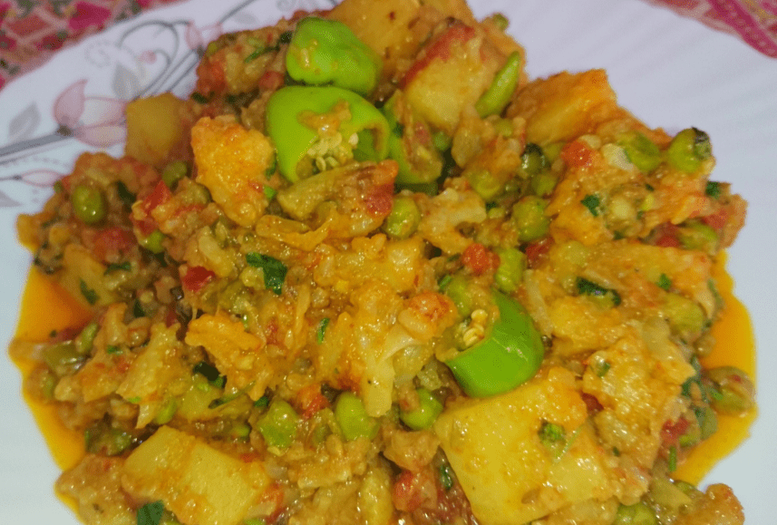 Aloo Gobi Ki Sabzi Pakistani Food Recipe (With Video)