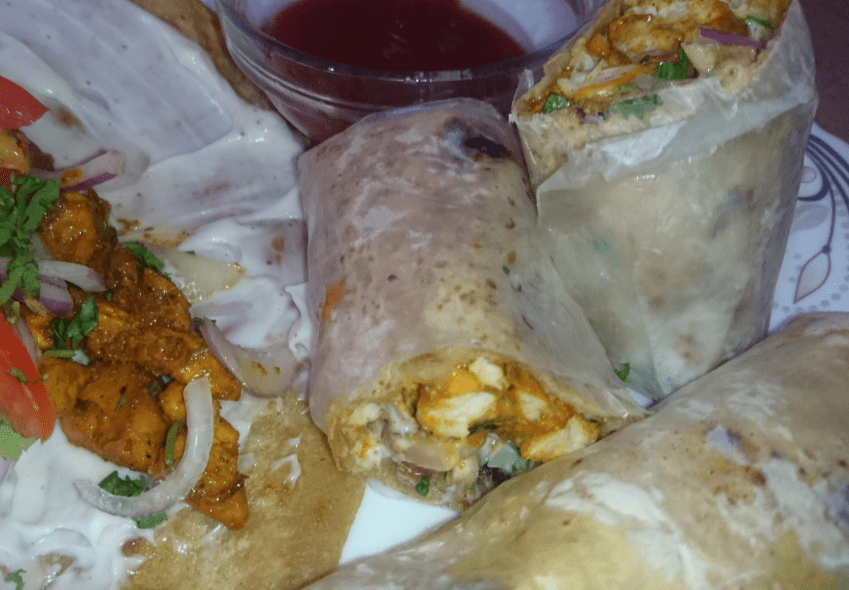 Chicken Paratha Mayo Roll Pakistani Food Recipe ( With Video)