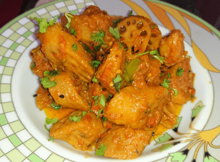 Lotus Root (Different Style) Pakistani Food Recipe (With Video)