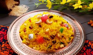 Shahi Zarda (Sweet Rice) Pakistani Food Recipe (With Video)
