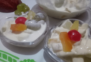 Tasty Creamy Fruit Dessert Pakistani Food Recipe (With Video)