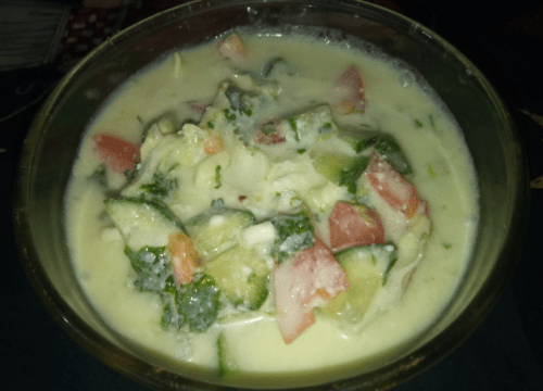 Delicious Veggies Raita Pakistani Food Recipe