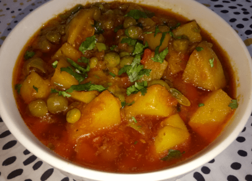 Matar Aloo Ki Sabzi Pakistani Food Recipe (With Video)