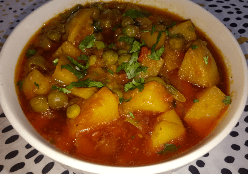 Matar Aloo Ki Sabzi Pakistani Food Recipe (With Video)