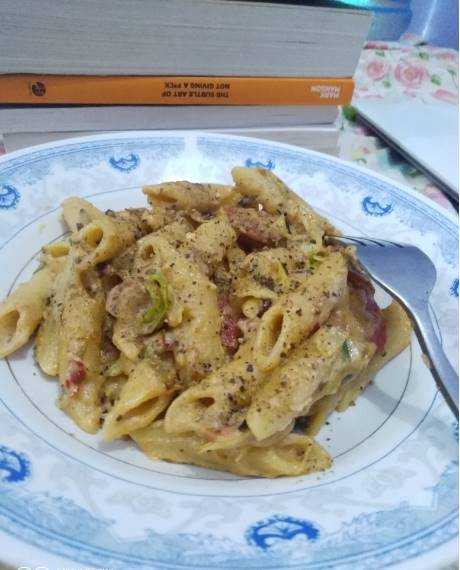 Penne Pasta With White Sauce Pakistani Food Recipe