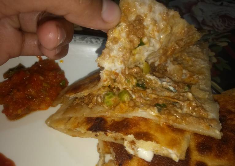 Delicious Beef Keema Paratha Pakistani Food Recipe
