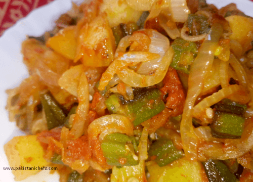 Bhindi Pyaz Ki Sabzi Pakistani Food Recipe (With Video)