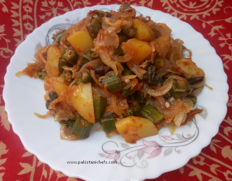 Bhindi Pyaz Ki Sabzi Pakistani Food Recipe (With Video)