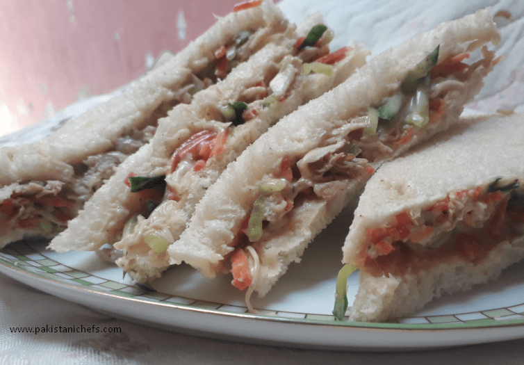 Delicious Chicken Sandwich With Mayo Pakistani Food Recipe (With Video)
