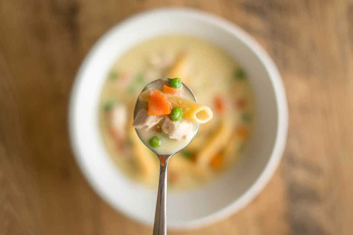 Creamy Chicken Pasta Soup Pakistani Food Recipe
