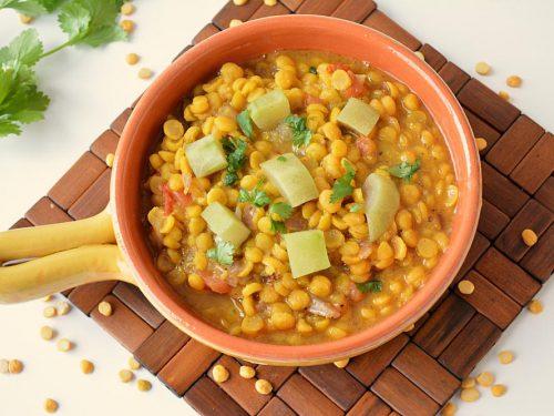 Delicious Chana Dal With Lauki Sabzi Pakistani Food Recipe: