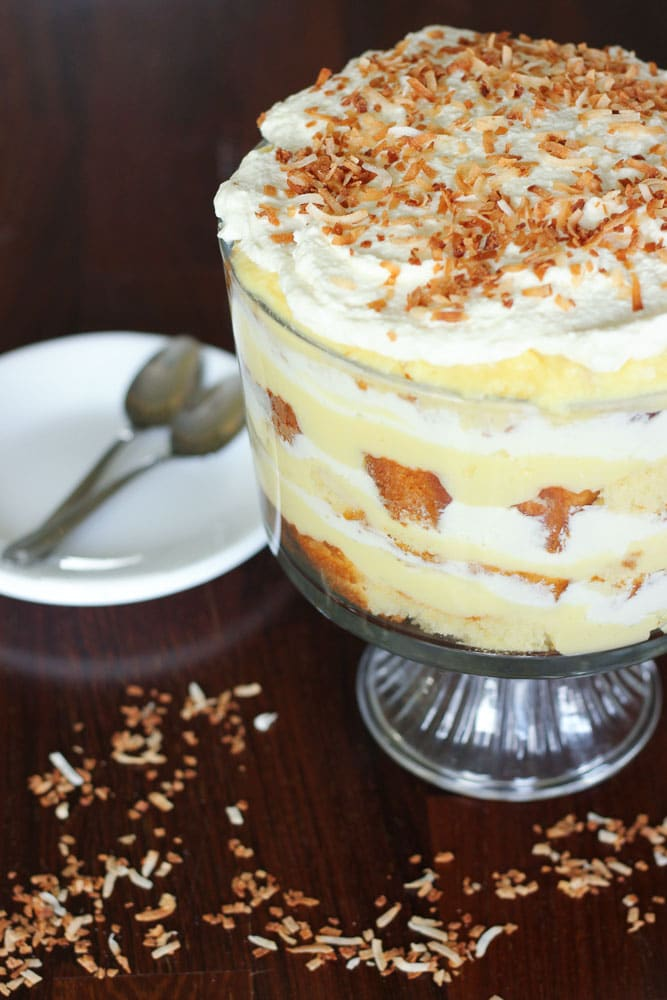 Delicious Coconut Custard Cream Trifle Pakistani Food Recipe