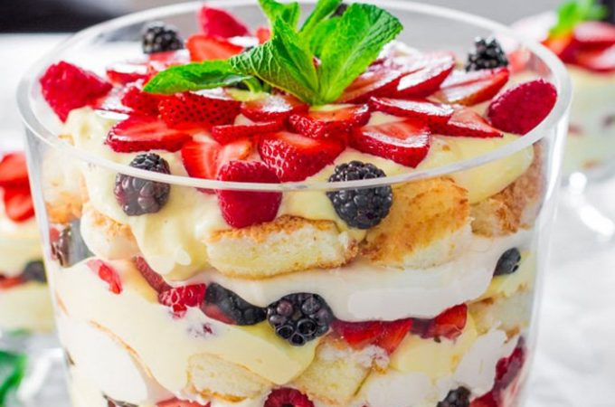 Delicious Summer Berries Trifle Pakistani Food Recipe