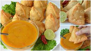 Orange Samosa Chutney Pakistani Food Recipe