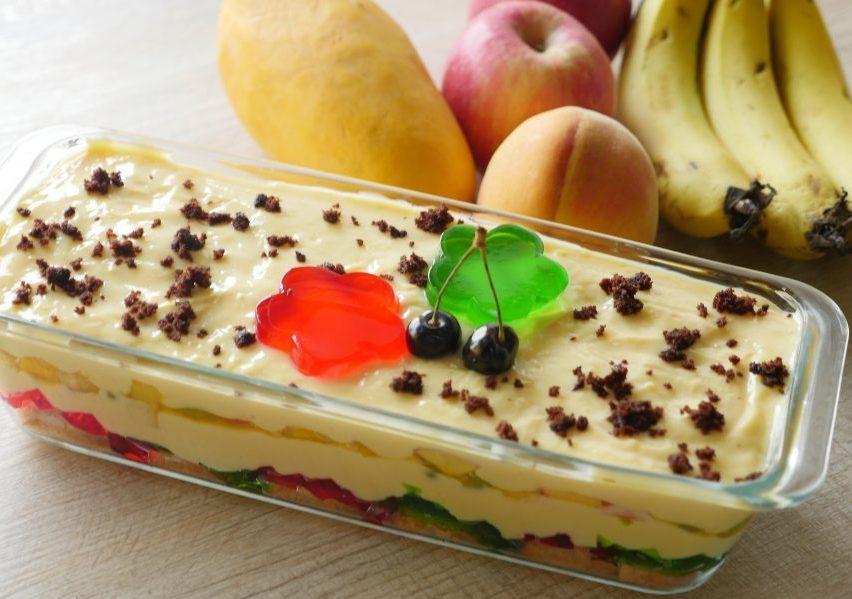 Fruit Custard Trifle Pakistani Food Recipe